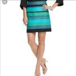 Ann Taylor Loft Dobby Stripe Shift Skirt